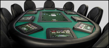 Poker table at casino